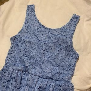 lush | baby blue lace dress